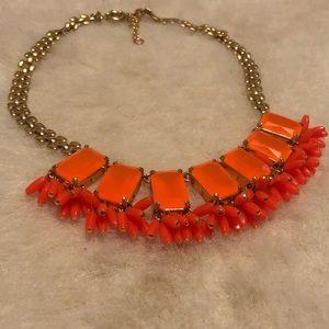 JCrew Orange Statement Necklace